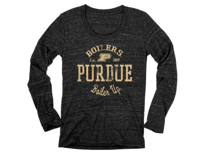Purdue Boilermakers Blue 84 NCAA Women's Boiler Up Tri-Blend Long Sleeve T-Shirt