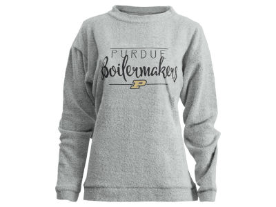 Purdue Boilermakers Pressbox NCAA Women's Comfy Terry Pullover