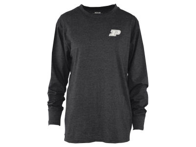 Purdue Boilermakers Pressbox NCAA Women's Melange Long Sleeve T-Shirt