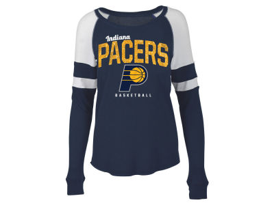Indiana Pacers 5th & Ocean NBA Women's Space Dye Long Sleeve T-Shirt