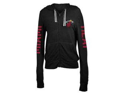 Miami Heat 5th & Ocean NBA Women's Sweater Knit Full Zip Hoodie