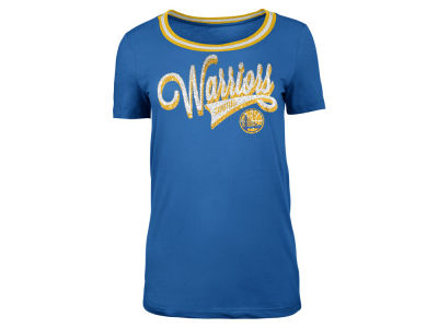 Golden State Warriors 5th & Ocean NBA Women's Crew Trim T-Shirt