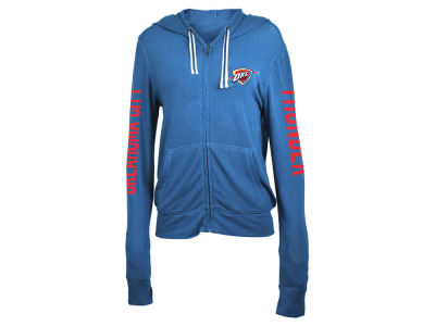 Oklahoma City Thunder 5th & Ocean NBA Women's Sweater Knit Full Zip Hoodie