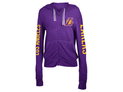 Los Angeles Lakers 5th & Ocean NBA Women's Sweater Knit Full Zip Hoodie