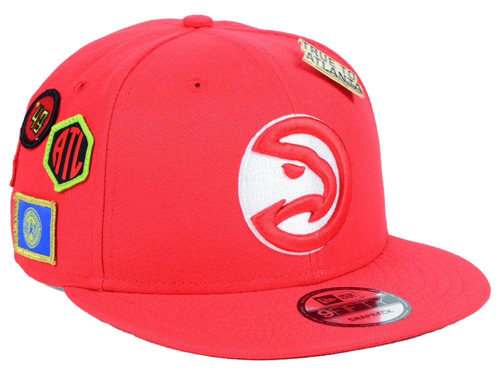 Atlanta Hawks New Era 2018 NBA On-Court Collection 9FIFTY Snapback Cap  45a7e657351