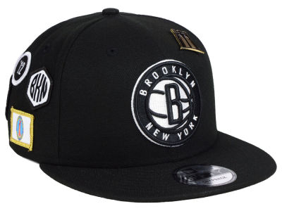 Brooklyn Nets New Era 2018 NBA On-Court Collection 9FIFTY Snapback Cap
