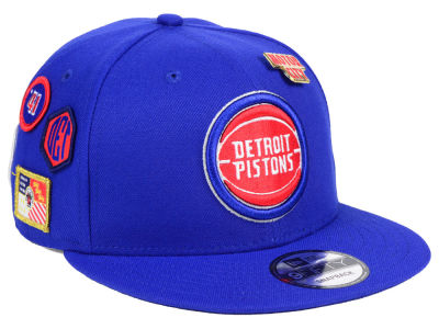 Detroit Pistons New Era 2018 NBA On-Court Collection 9FIFTY Snapback Cap