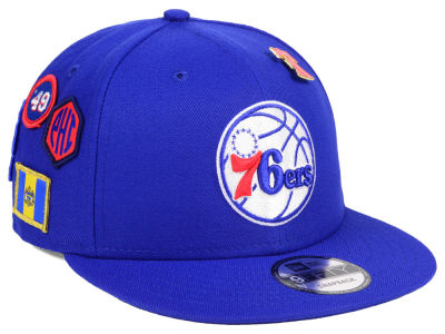 the latest 72762 a56c8 Philadelphia 76ers New Era 2018 NBA On-Court Collection 9FIFTY Snapback Cap