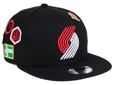 Portland Trail Blazers New Era 2018 NBA On-Court Collection 9FIFTY Snapback Cap