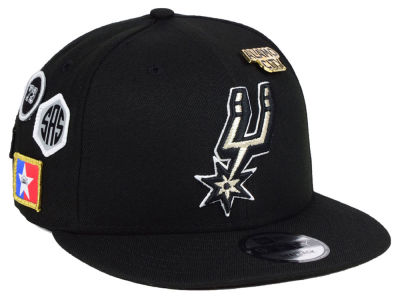 San Antonio Spurs New Era 2018 NBA On-Court Collection 9FIFTY Snapback Cap