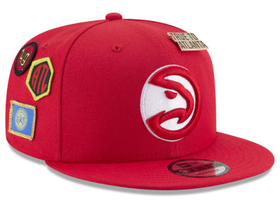 Atlanta Hawks New Era NBA Youth On-Court Collection 9FIFTY Snapback Cap