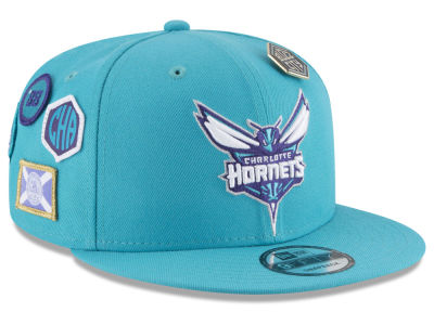 Charlotte Hornets New Era NBA Youth On-Court Collection 9FIFTY Snapback Cap