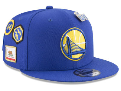 Golden State Warriors New Era NBA Youth On-Court Collection 9FIFTY Snapback Cap
