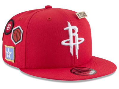 Houston Rockets New Era NBA Youth On-Court Collection 9FIFTY Snapback Cap