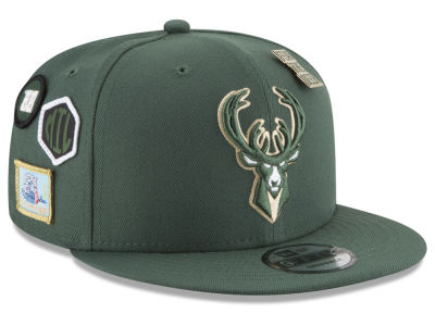 Milwaukee Bucks New Era NBA Youth On-Court Collection 9FIFTY Snapback Cap