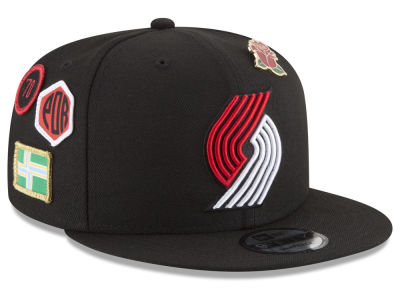 Portland Trail Blazers New Era NBA Youth On-Court Collection 9FIFTY Snapback Cap