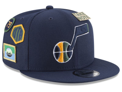 Utah Jazz New Era NBA Youth On-Court Collection 9FIFTY Snapback Cap