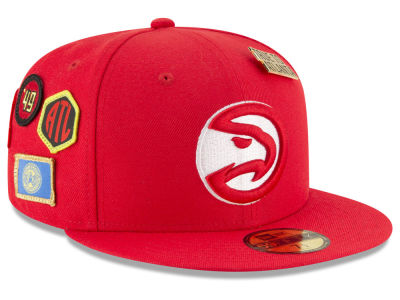 Atlanta Hawks New Era 2018 NBA On-Court Collection 59FIFTY Cap