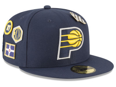 Indiana Pacers New Era 2018 NBA On-Court Collection 59FIFTY Cap