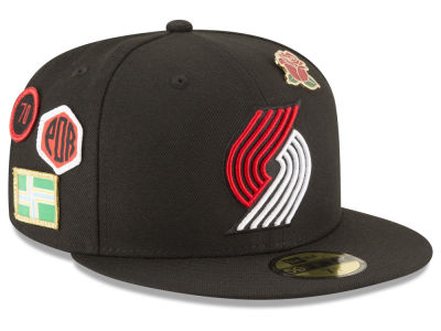Portland Trail Blazers New Era 2018 NBA On-Court Collection 59FIFTY Cap