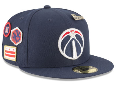 Washington Wizards New Era 2018 NBA On-Court Collection 59FIFTY Cap
