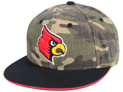 Louisville Cardinals adidas NCAA Stadium Performance Camo Fitted Cap