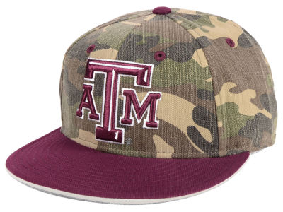 Texas A&M Aggies adidas NCAA Stadium Performance Camo Fitted Cap