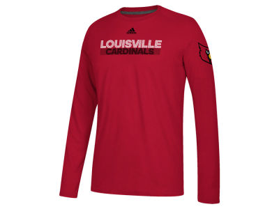 Louisville Cardinals adidas NCAA Men's Sideline Lined Up Long Sleeve T-Shirt