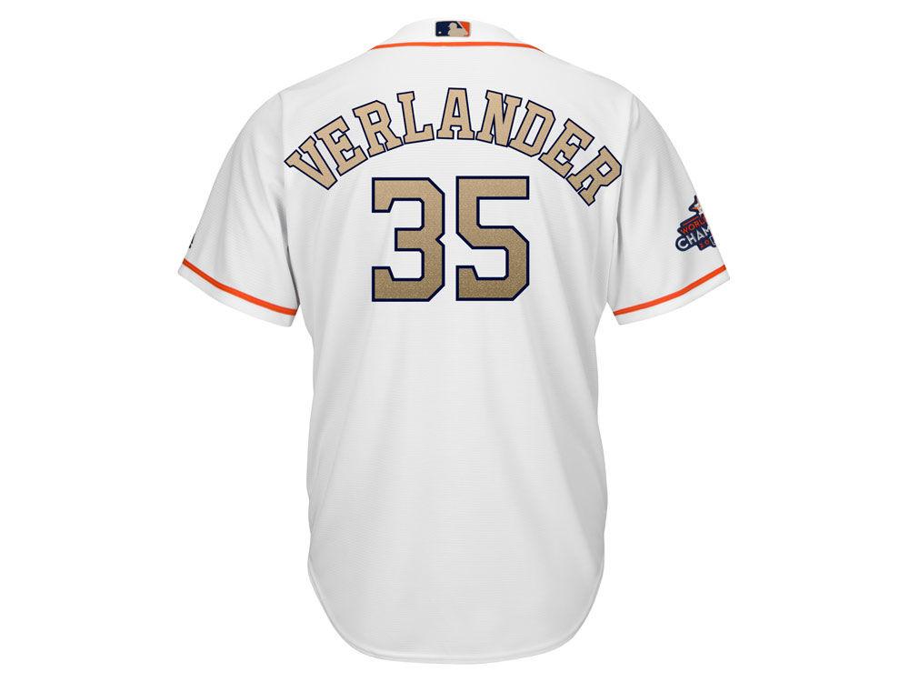 Houston Astros Justin Verlander Majestic 2018 MLB Men s Gold Replica Cool  Base Jersey  764392252