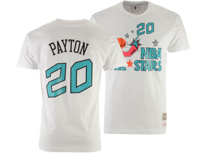 NBA All Star Gary Payton Mitchell & Ness 1996 Men's Name & Number Traditional T-Shirt
