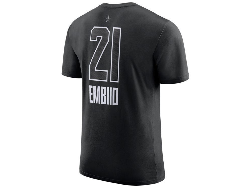 f9d309384 Philadelphia 76ers Joel Embiid Nike 2018 NBA Men s All-Star Jordan Player  T-Shirt