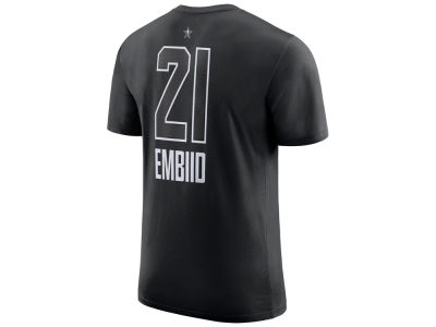 Philadelphia 76ers Joel Embiid 2018 NBA Men's All-Star Jordan Player T-Shirt
