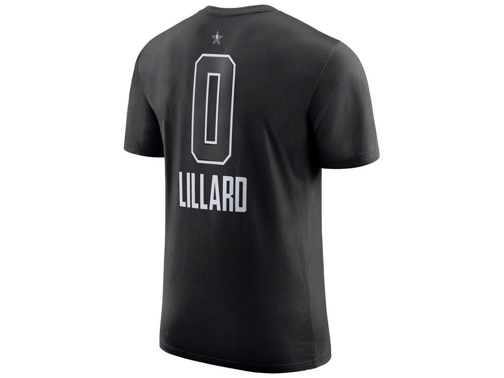 e7aa670f0 Portland Trail Blazers Damian Lillard Nike 2018 NBA Men s All-Star Jordan  Player T-Shirt