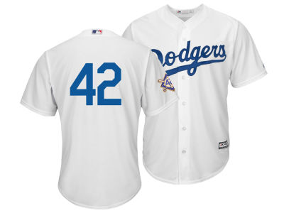 Los Angeles Dodgers Jackie Robinson Majestic MLB Men's Replica Patch Jersey
