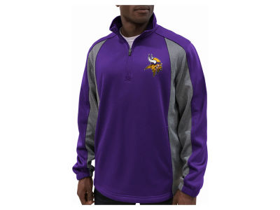 Minnesota Vikings G-III Sports NFL Men's Offsetting Penalty Quarter Zip Pullover