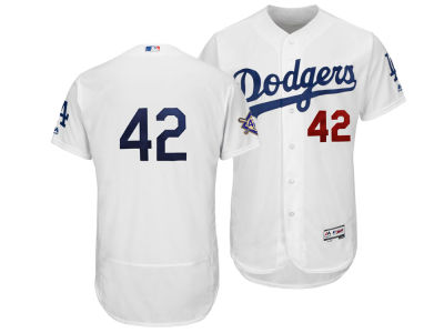 Los Angeles Dodgers Jackie Robinson Majestic MLB Men's Flexbase Patch Jersey
