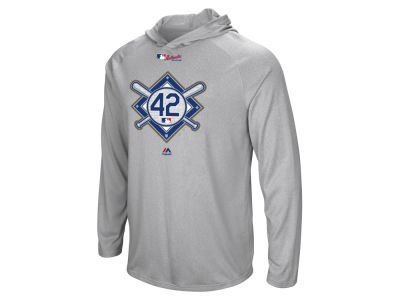 Los Angeles Dodgers Jackie Robinson MLB Men's Jackie Robinson Day Logo Fleece Hoodie