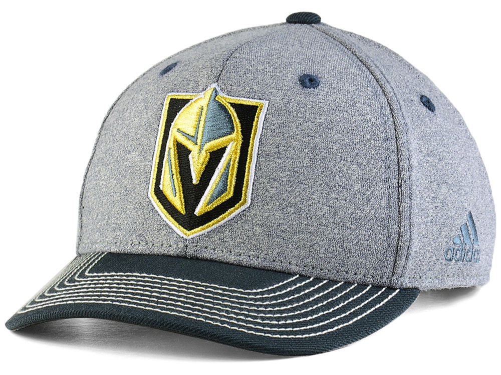 best sneakers fce0f 8b6ea ... real vegas golden knights adidas nhl 2tone heathered adjustable cap  553a4 723f5