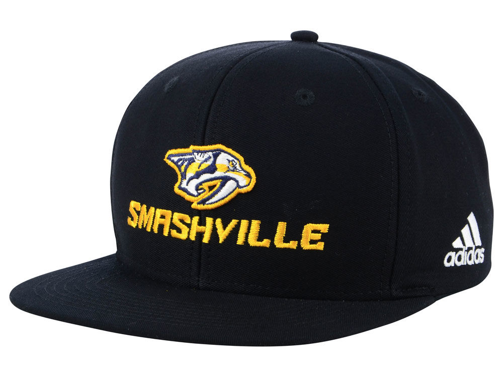Nashville Predators adidas NHL Smash Snapback Cap  33c07784a078