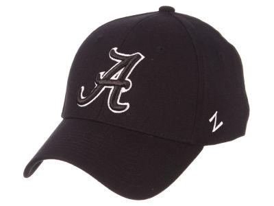 c3ec6897559 Alabama Crimson Tide Zephyr NCAA Black White Stretch Cap