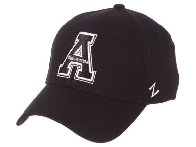 Appalachian State Mountaineers Zephyr NCAA Black White Stretch Cap