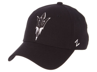 Arizona State Sun Devils Zephyr NCAA Black White Stretch Cap