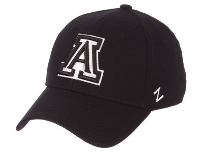 Arizona Wildcats Zephyr NCAA Black White Stretch Cap