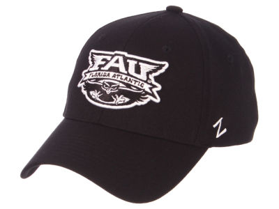 Florida Atlantic Owls Zephyr NCAA Black White Stretch Cap