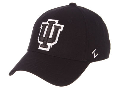 Indiana Hoosiers Zephyr NCAA Black White Stretch Cap