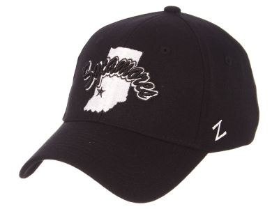 Indiana State Sycamores Zephyr NCAA Black White Stretch Cap
