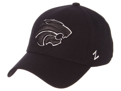 Kansas State Wildcats Zephyr NCAA Black White Stretch Cap