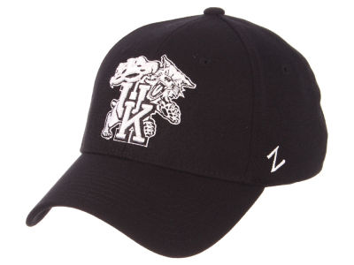 Kentucky Wildcats Zephyr NCAA Black White Stretch Cap