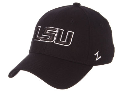 LSU Tigers Zephyr NCAA Black White Stretch Cap