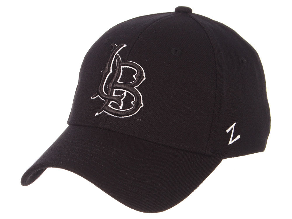 Long Beach State 49ers Zephyr Ncaa Black White Stretch Cap